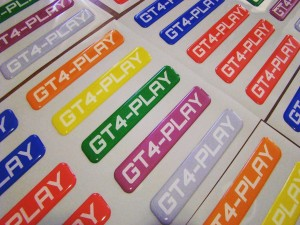GT4-Play Gel Stickers