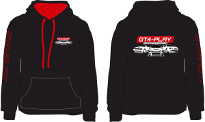 GT4-Play Hoodie- Red Infill